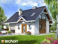 Проекты малых домов до 150 m2 Дом в бруснике 2 Archon