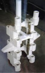 Production of casting molds, castings by a molding