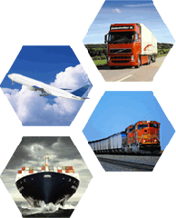 Multimodal container transportation of goods