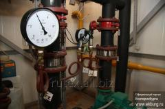 Hydraulic test of systems of heating, capacities,