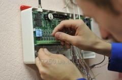 Installation of the fire and security alarm system