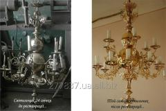 Реставрація церковних світильників та іншої церковної утварі
