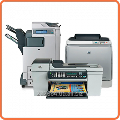 Gas station of cartridges for laser printers of
