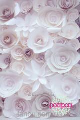 """Цветочный стенд""""White Flowers"""""""