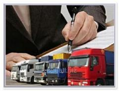 Services in the international logistics