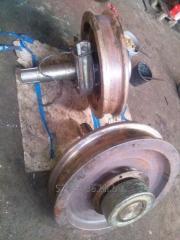 Crane wheels - dismantling repair installation