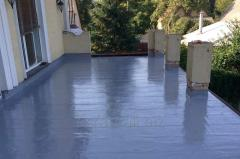 Waterproofing of a roof and terraces