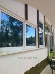 Тонировка фасадов зданий, бронировка стеклопакетов в ваших домах