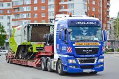 Transportation of combines across Ukraine to