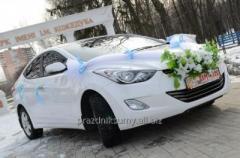 Авто на свадьбу Hyundai Elantra ,белая,черная 3 шт