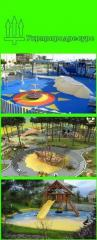 Device of sports playgrounds