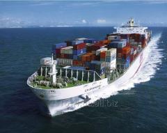 Sea container transportations. Logistics of sea