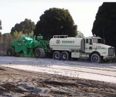 Пылеподавление и стабилизация грунта
