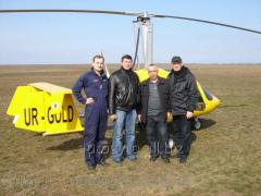 Training in flights at an autogyr