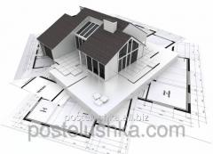 Visualization of 3D projects of houses, katedzhy,