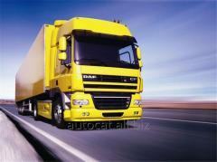 Послуги з перевезення вантажів автомобільним транспортом