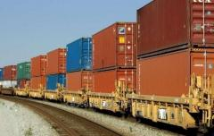 Cargo transportation railway for container and