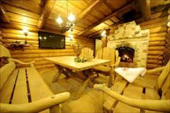 Services in construction of wooden baths
