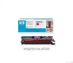 Service of gas station of a cartridge HP Q3963A,