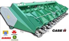 Re-equipment and hanging of corn harvesters of