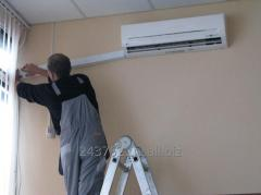 Installation of conditioners. Installation of