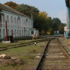 Technical data sheet of a railway way. Poltava.