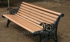 Production of garden benches