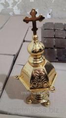 Chromium plating of church accessories