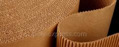 Production of a microcorrugated cardboard. Own