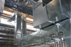 Installation of air ducts