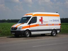 Transportation of the elderly person from Kherson
