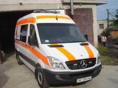 Transportation of the elderly person from Nikolaev