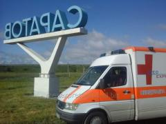 Transportation of the patient from Ukraine to
