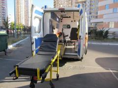 Transportation of the insultny bed patient from