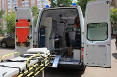 Transportation of the patient from Zaporizhia to