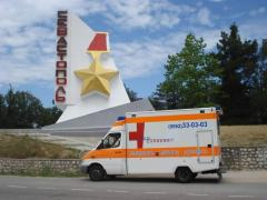 To transport the patient from Simferopol to St.