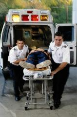 Transportation of the patient with a back injury