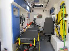 Transportation of the patient with a trauma of