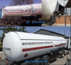 Repair of gas carriers (semi-trailer
