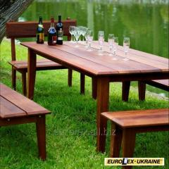 Hire of garden furniture