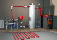 Монтаж отопительных газовых и твердотопливных котлов