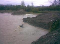 Укрепление и защита речной береговой линии полный комплекс
