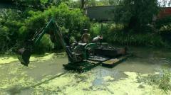 Очистка дна водоёмов от ила