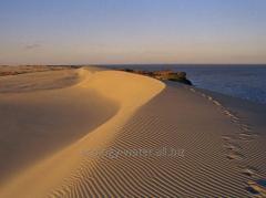 Device of beaches, sand alluvium