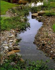 Beautification of ponds, streams and waterfalls in