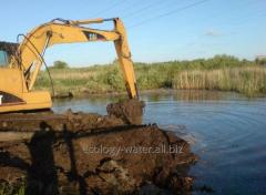Deepening of beds of the rivers