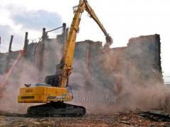 Разборка и демонтаж зданий, расчистка участков, спил деревьев