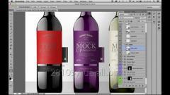 Изготовление этикетки на бутылки