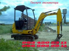 Rent of the excavator and loader of JCB