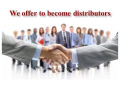 We offer to become distributors